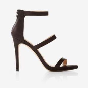 Express Black Satin Heels
